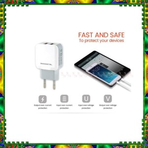 Travel Charger Micro USB DUAL OUTPUT 2 Output Port Fast Charging 2.1 A