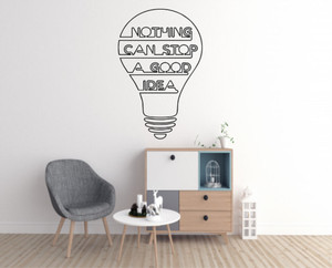 Stiker Dinding Kaca Office Wall Sticker Nothing Can Stop A Good Idea