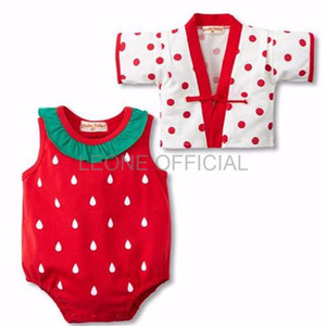 DRESS ANAK PEREMPUAN BAJU ANAK IMPORT Romper Kimono Strawberry baju a