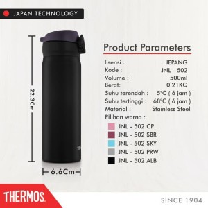 Termurah Thermos Tumbler One Push Ultra Light - A Black 500Ml