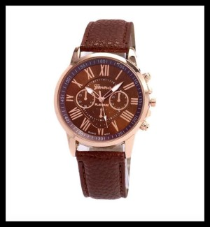 J-100 Jam Tangan Geneva Leather Quartz / Jam Tangan Fashion Wanita / A