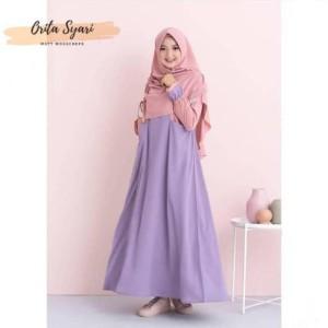 PROMO Baju Gamis Syari Khimar Orita Fashion Muslim Wanita A PASTIMURAH