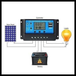 Promo Scc Solar Charge Controller Pwm 10 A 12 V 24 V Best Seller !!!