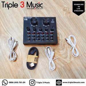 Soundcard V8 ORIGINAL BNIB Sound card live streaming V8 triple 3 music