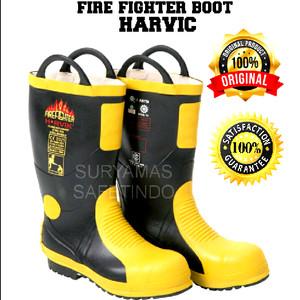 jual sepatu boot pemadam /Fire Fighter boots HARVIC ASLI/ORIGINAL