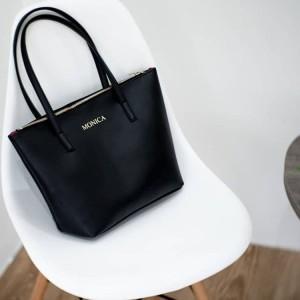 Jual Initial Kirei Totebag Tas Fashion Wanita Unik - Black