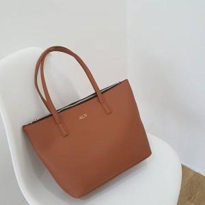 Jual Initial Kirei Totebag Tas Fashion Wanita Unik - Brown