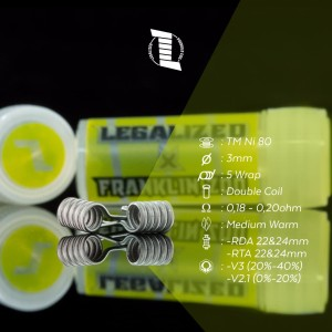 Legalized x franklin.zoo Alien clapton yellow label 0.18-0.20 Ohm