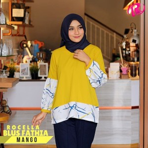 XXL-3XL Rocella Blouse Fathia Atasan Wanita Trendy - Mango
