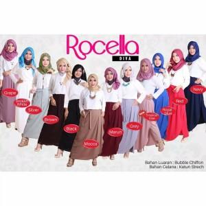 [XXL-3XL] Rocella Rok Celana Diva Bawahan Cantik Muslimah Modern