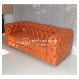 Furniture Modern Kursi Sofa Chester Orange