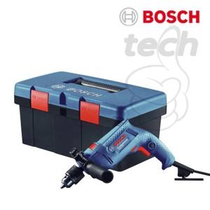 Mesin Bor Tangan Tembok Beton Listrik Bosch GSB 550 Freedom Kit + Acc