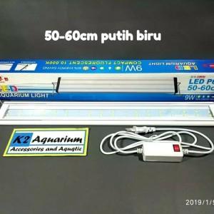 Lampu led yamano p600 50-60cm 9 watt aquarium /lampu led yamano p 600 - Putih Biru