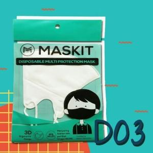 Masker Maskit Disposable (3 pcs) Masker Anti Polusi Masker Motor D-03