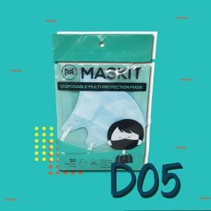 Masker Maskit Disposable (3 pcs) Masker Anti Polusi Masker Motor D-05