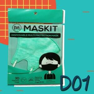 Masker Maskit Disposable (3 pcs) Masker Anti Polusi Masker Motor D-01