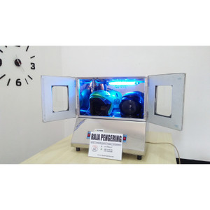 Mesin Pengering Helm 2 Tungku UV Type Gas