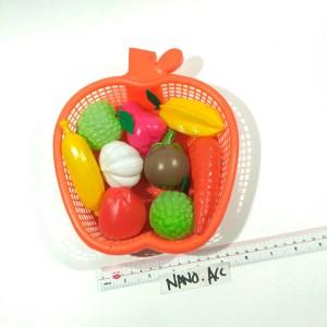 mainan keranjang buah plastik fruit basket