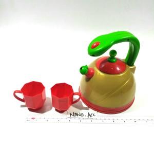 Mainan masak-masak an Teko cangkir set tea pot