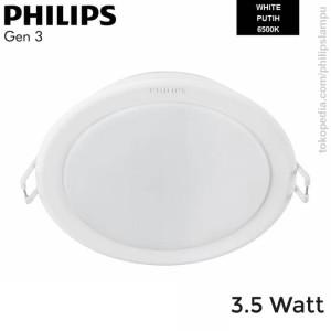 Lampu Downlight LED Philips 3,5W 59441 Meson Gen 3 Putih White 3,5 W