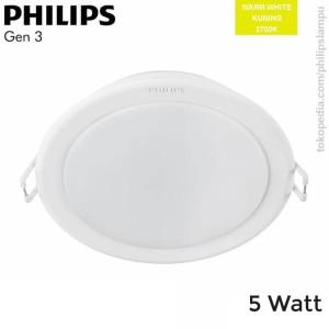 Lampu Downlight LED Philips 5W 59447 Meson Gen 3 WarmWhite Kuning 5 W
