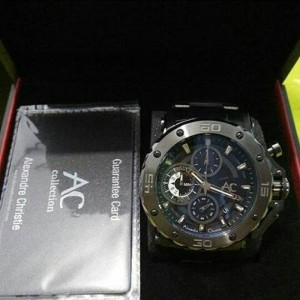 Jam Tangan Alexandre Christie AC Collection 9205 Full Black