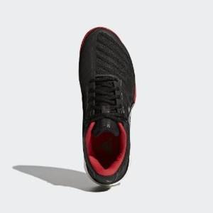 Jual Adidas Mens Barricade Boost 2018 Tennis Shoes Core Black Red B12t45 Kab. Tangerang Osama1 | Tokopedia