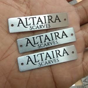 Label Plat Hijab Silver