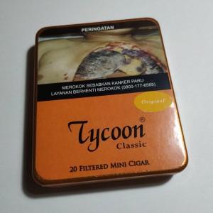 Tycoon Mini Cigarillos Original (Tin-20) - Cerutu Kecil Aroma Original