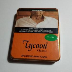 Tycoon Mini Cigarillos Vanilla (Tin-20) - Cerutu Kecil Aroma Vanilla
