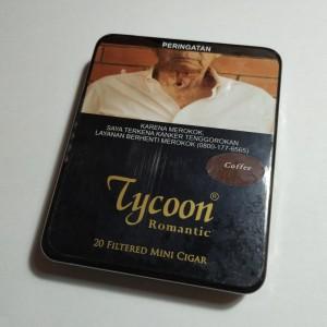 Tycoon Mini Cigarillos Coffee (Tin-20) - Cerutu Kecil Aroma Kopi