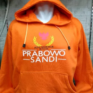 Jaket hoodie prabowo sandi 2019