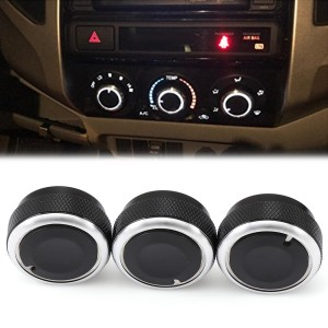 Car AC Heat Control Knobs Aluminum Panel Switch for Toyota Vios 2002-2006 Red