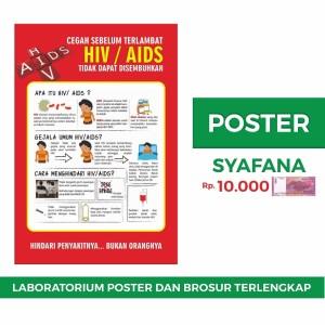 Jual Poster Hiv Aids Kab Sleman Syafana Tokopedia