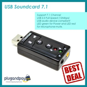 Sound Card USB Adapter Channel VZTEC USB 7.1