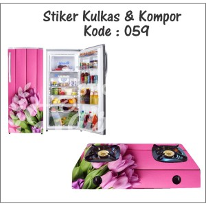 Paket Cetak Stiker Kompor dan Kulkas Motif Bunga
