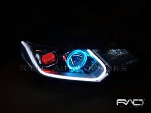 Custom Angel Eyes wifi+Devil eyes+Drl Audiline Honda Jazz Rs thn 2015