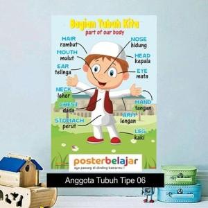 Jual Tipe 06 Poster Anggota Tubuh Anak Muslim Laki Laki Untuk Paud Tk Sd Jakarta Pusat Bambanggunawa Tokopedia