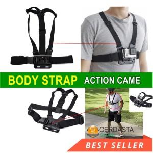 Strap Kamera Tali Dada Kamera Mount Body Belt Gopro Hero SJCAM Xiaomi