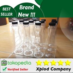 12 pcs Grosir Botol Kemasan Minuman Unik Model Fleksi Botol 350ml Unik