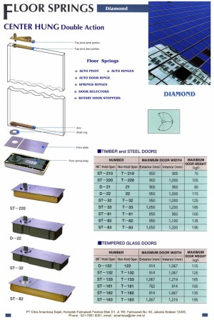 Engsel Tanam - Diamond Floor Hinge ST-133 - TERMURAH