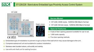 SOCA Access Control - Card Reader With Keypad ST-228