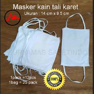 Masker kain tali karet murah best quality