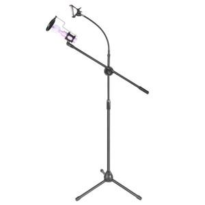 Pro Stand Mic Microphone Berdiri With Smartphone Stand Holder