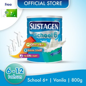 Sustagen School Susu Pertumbuhan Vanila 800g Free Dettol Wipes 10S