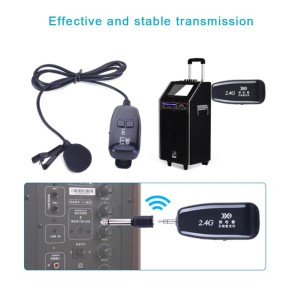 Mic Clip on 2.4G Wireless Microphone Lapel Rechargeable