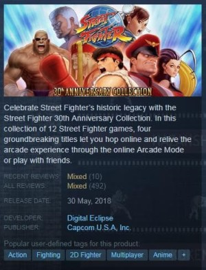 Jual Games Pc Street Fighter 30th Anniversary Collection Kota