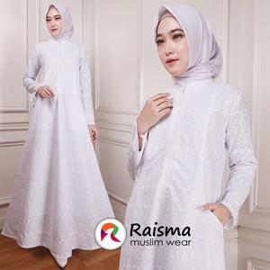 Baju Gamis Putih cantik / Gamis Wanita Warna Putih / Gamis Putih