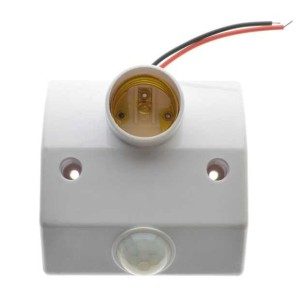 Fitting Lampu Sensor Gerak Socket E27 dengan Infrared Motion Sensor