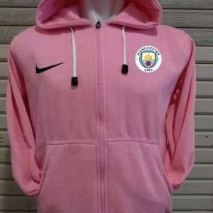 Jaket bola manchester city pink